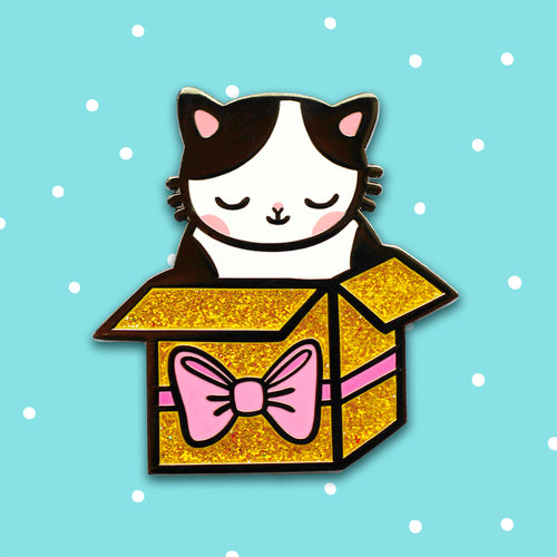 Present Kitty Pin