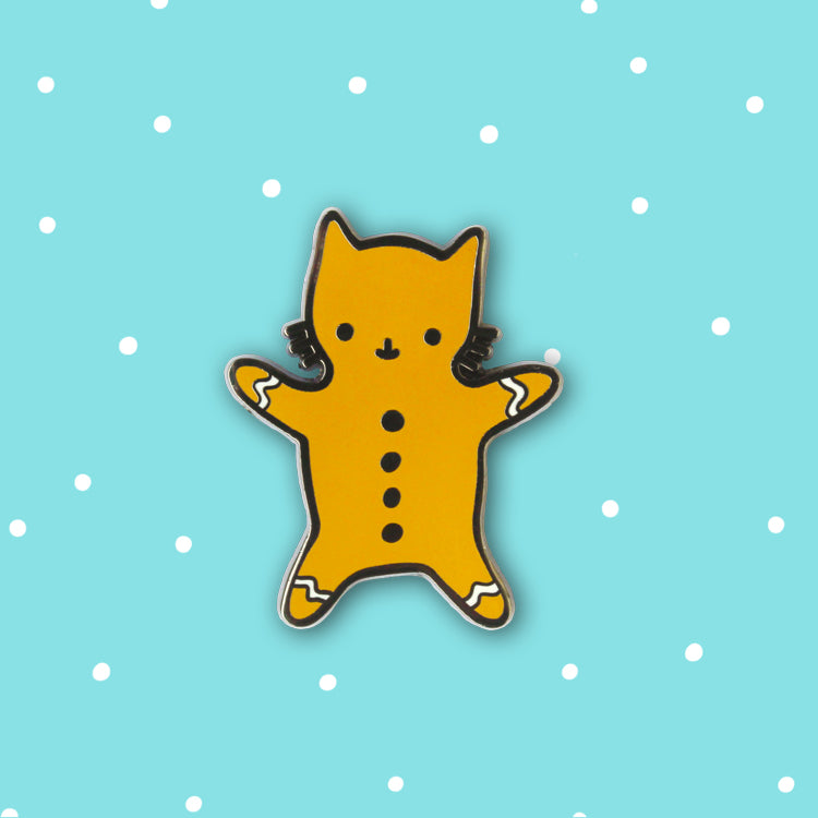 Gingerbread Cat Enamel Pin