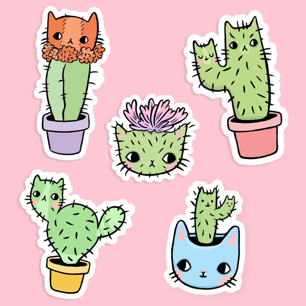 Catcus Vinyl Sticker Set