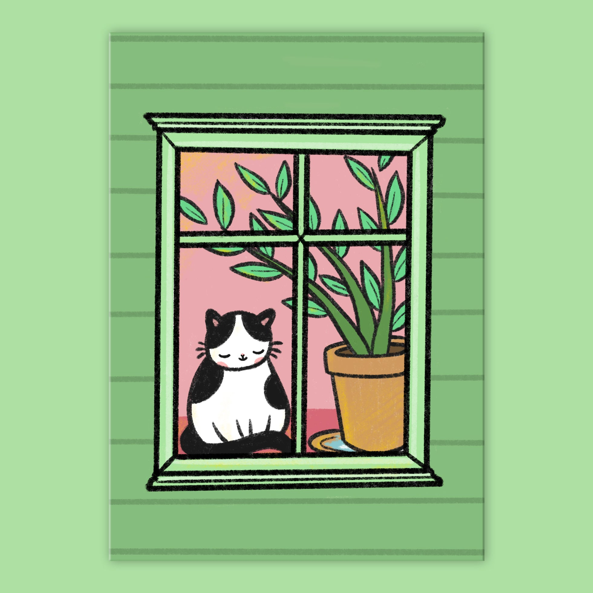 Window Cat Postcard