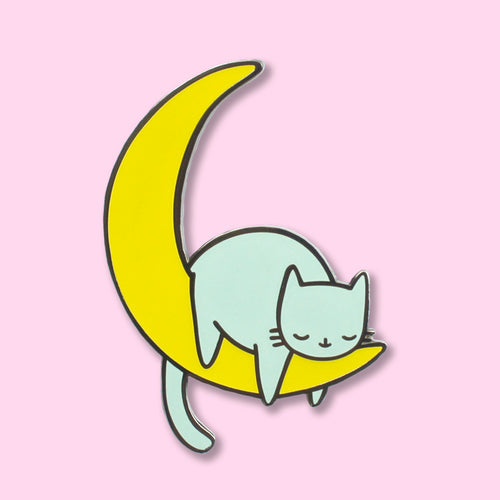 Celestial Kitty Glow In The Dark Pin