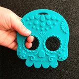 Helles Teeth Sugar Skull Teether (Teal)
