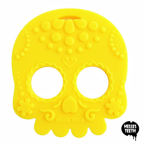 Helles Teeth Sugar Skull Teether (Yellow)