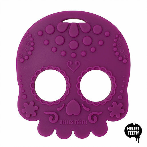 Helles Teeth Sugar Skull Teether (Purple)
