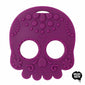 Helles Teeth Sugar Skull Teether (Purple) - Merrybubs