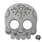 Helles Teeth Sugar Skull Teether (Silver) - Merrybubs