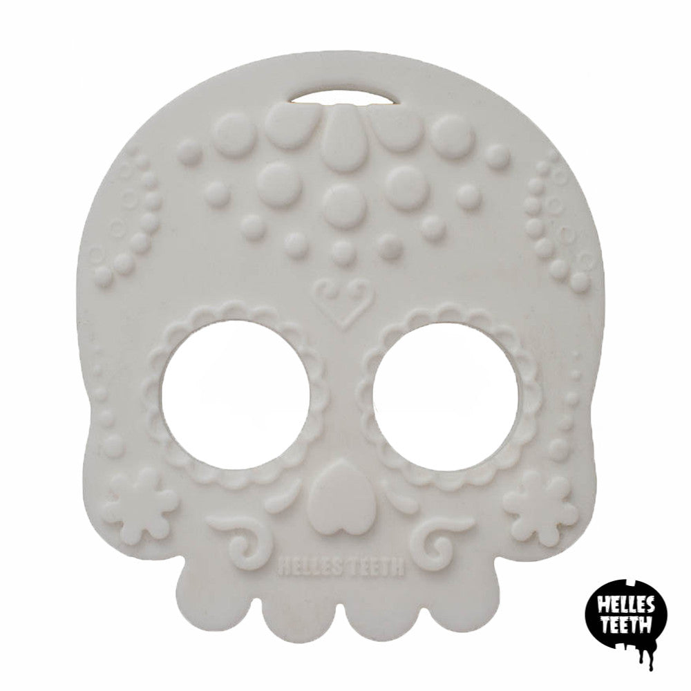 Helles Teeth Sugar Skull Teether (White)