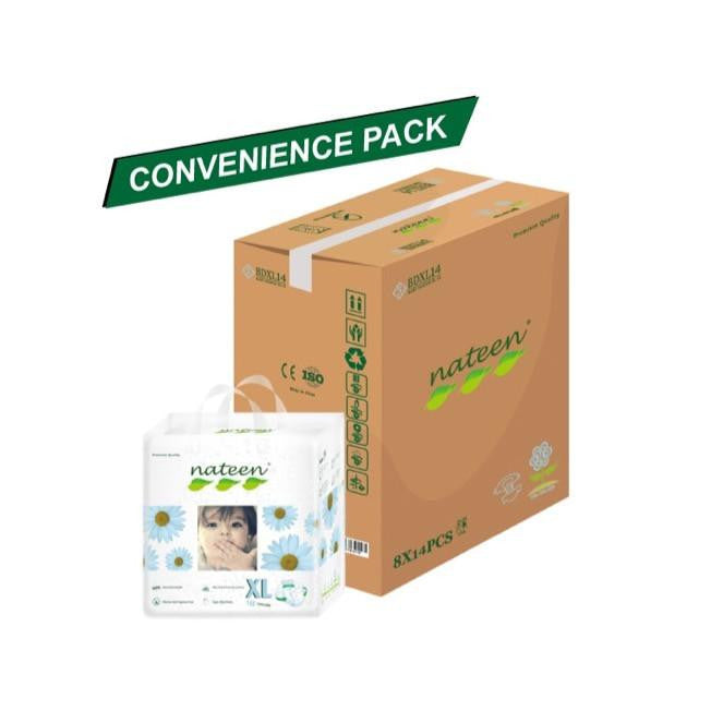 Nateen Baby Diapers XL - Carton 8x14's