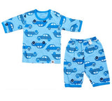 Puco Jacquard Capri Set (Blue Car)
