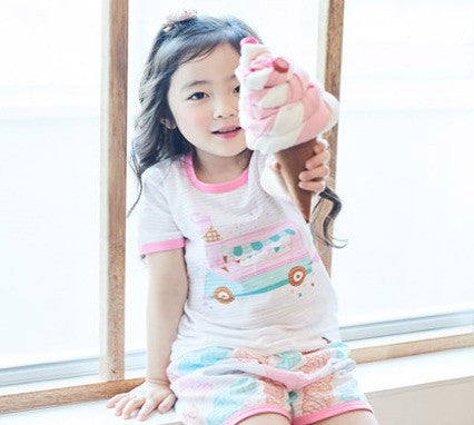 Puco Jacquard Short Sleeve Set (Ice-Cream Truck)