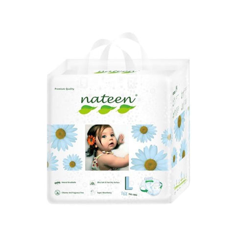 Nateen Baby Diapers L - Carton 8x16's