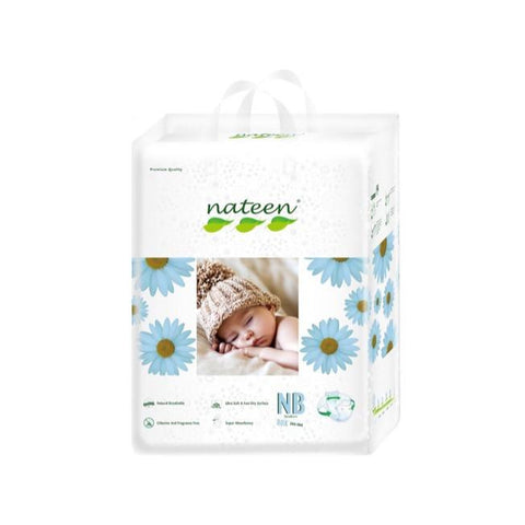Nateen Baby Diapers NB - Carton 2x80's