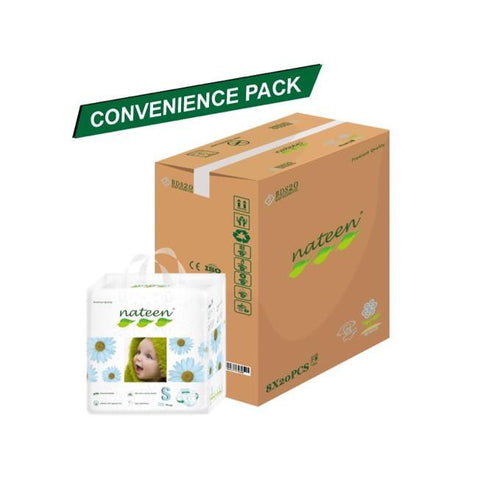Nateen Baby Diapers S - Carton 8x20's