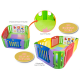 Nihon Ikuji Premium Musical Play Yard - 4 Panels with Mat