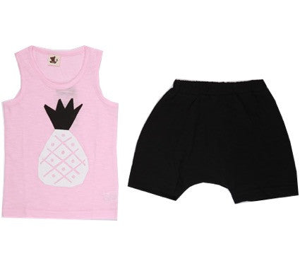 Puco Premium Sleeveless Set (Pineapple Pink)