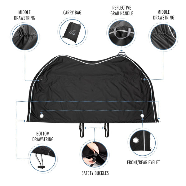 New Transportation Bike Cover - Size XL: For 2 bikes