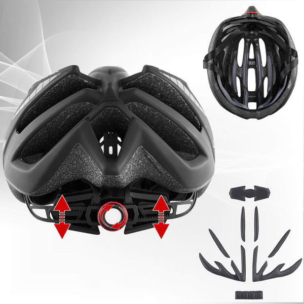 Airflow Bike Helmet with Reinforcing Skeleton (Black)