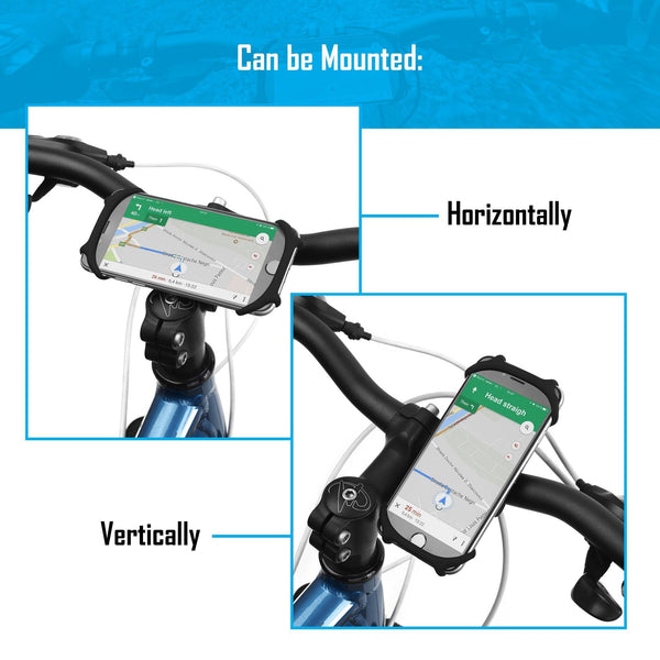 DAVANDI Silico Premium Bike Phone Holder [Large] Universal Bicycle Handlebar Mount For Smartphones