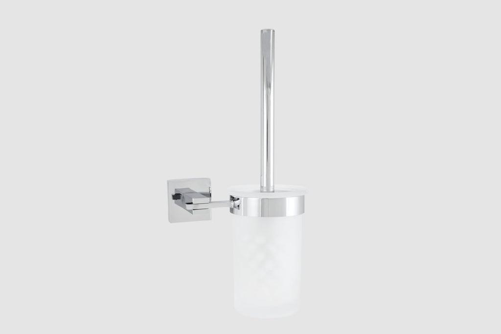 Tegra Toilet Brush Holder Glass
