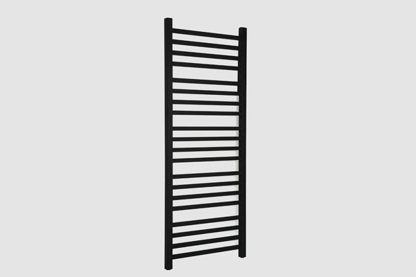 Integra Towel Radiator Black Square Type 5x12