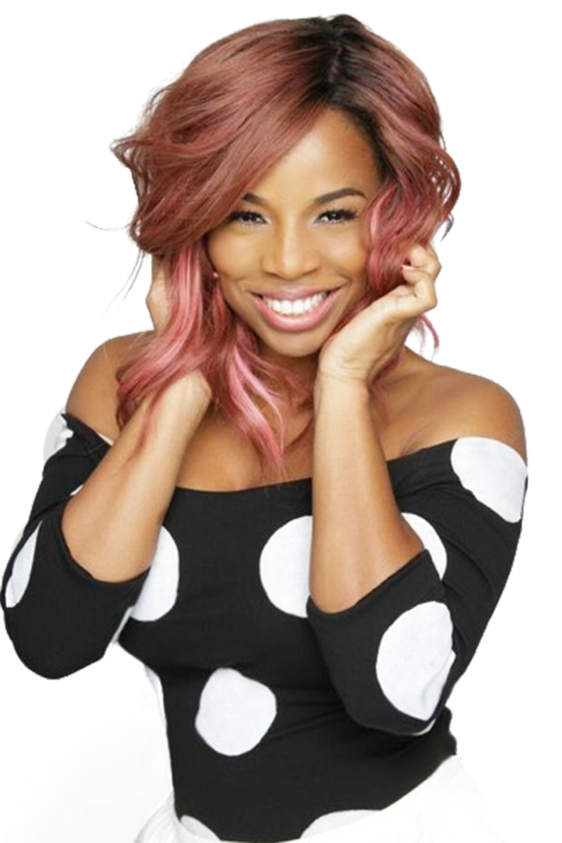 24K Rose Gold Color Wig