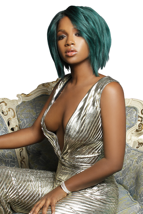 Green Teal Pastel Short Wig