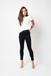 FAE LONDON - BAYWATER HIGH RISE SKINNY JEAN IN BLACK