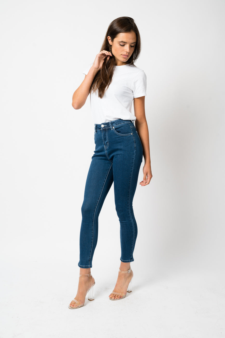 FAE LONDON - BAYWATER HIGH RISE SKINNY JEAN IN INDIGO