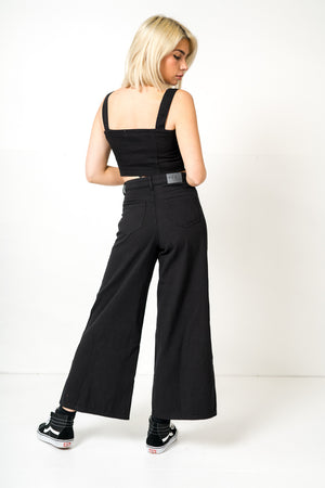 FAE LONDON - DULWICH HIGH WAISTED WIDE LEG JEANS