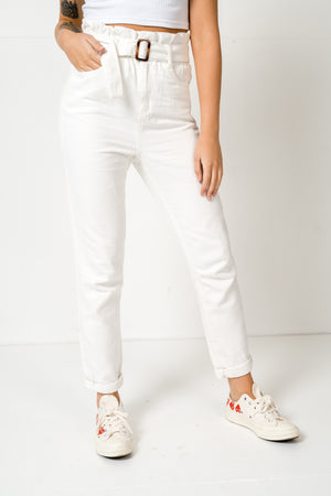 FAE LONDON - STAMFORD PAPERBAG MOM JEANS