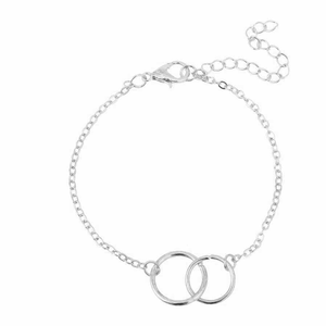 Silver Joint Circle Stacking Bracelet
