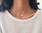 Silver Heart Shape Pendant Necklace