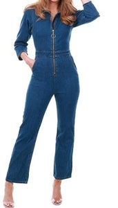 Abbey Road 70s Kick flare denim jumpsuit