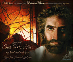Prince of Peace Montage with Stained Glass Painting by Akaine Kramarik