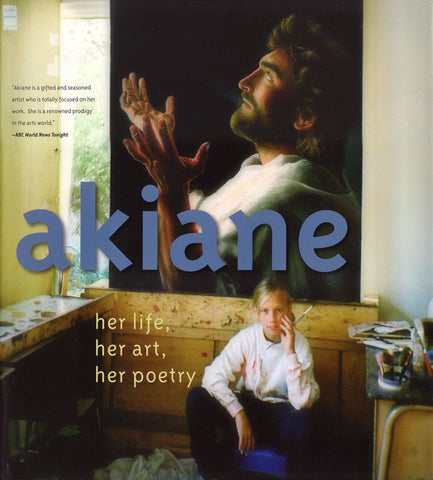 Akiane, her, life, art, poetry, tabletop book 136-pages, included Prince of Peace painting of Jesus