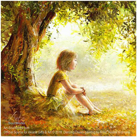 Dancing-Dream-painting-by-Artist- Akiane-Kramarik-Child-In-Forest-Trees-Day-Dreaming