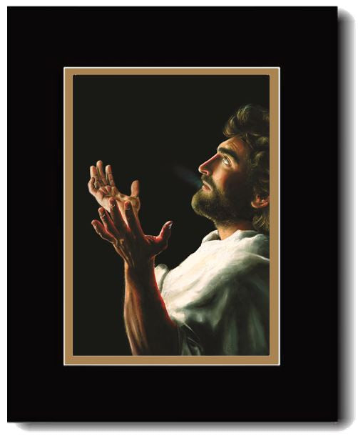 Father forgive them, Jesus praying before   crucifixion available in print or canvas art by Akiane Kramarik