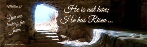 Empty Tomb of Jesus on Resurrection Day - He is Risen Matthew 28