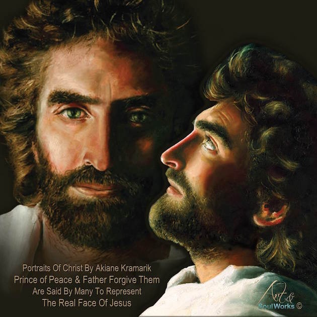 Akiane Kramarik Paintings - Prince of Peace and Father Forgive