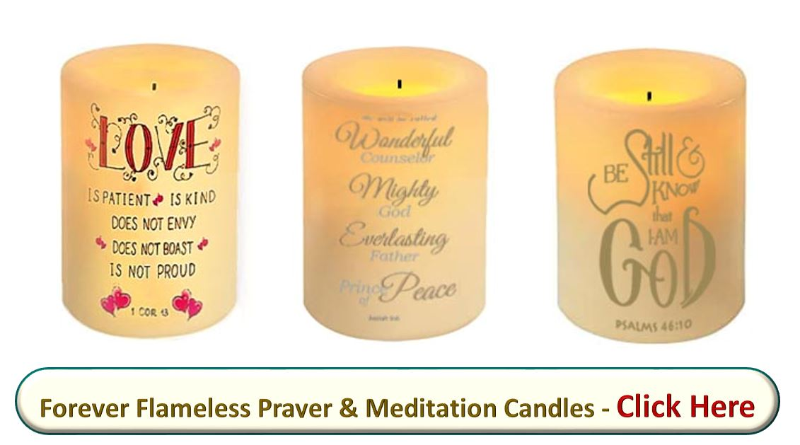 Flameless, flickering, led, candles, bible verses, scripture, Prince of Peace, Love, be still I am God designs