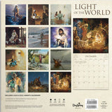 Jesus, Light of the World Calendar back honors Jesus our Prince of Peace purchase from www.Art-SoulWorks.com