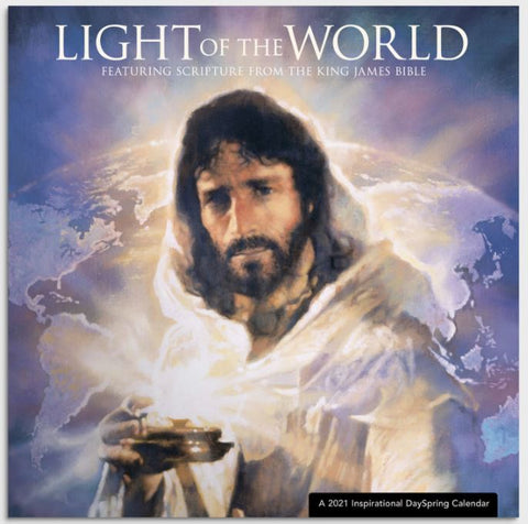 Jesus, Light of the World Calendar Cover honors Jesus our Prince of Peace purchase from www.Art-SoulWorks.com