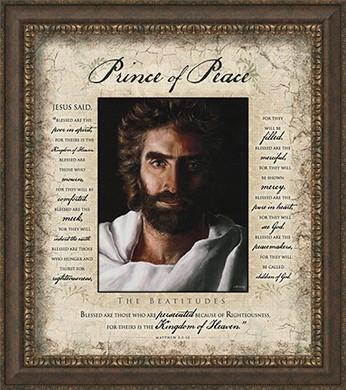Prince of Peace Beatitudes, Framed Art @ www.art-soulworks.com