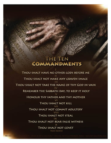 The Ten Commandments - 8 x 10-inch Digital Download