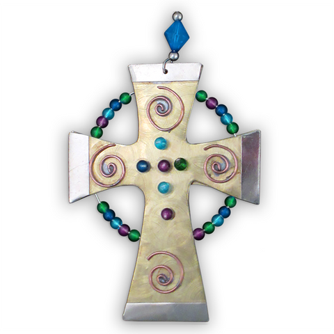 Jewel Cross - Handmade Ornament