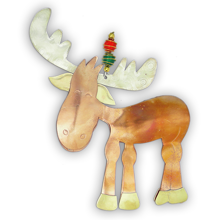 Murphy Moose  - Handmade Ornament