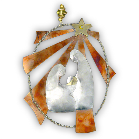 Star Nativity  - Handmade Ornament