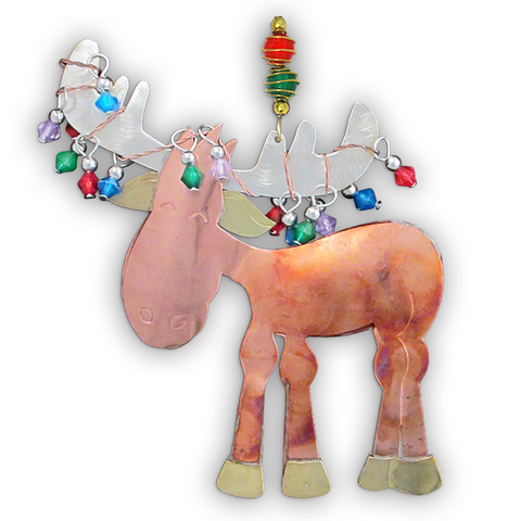 Twinkling Murphy Moose - Handmade Ornament
