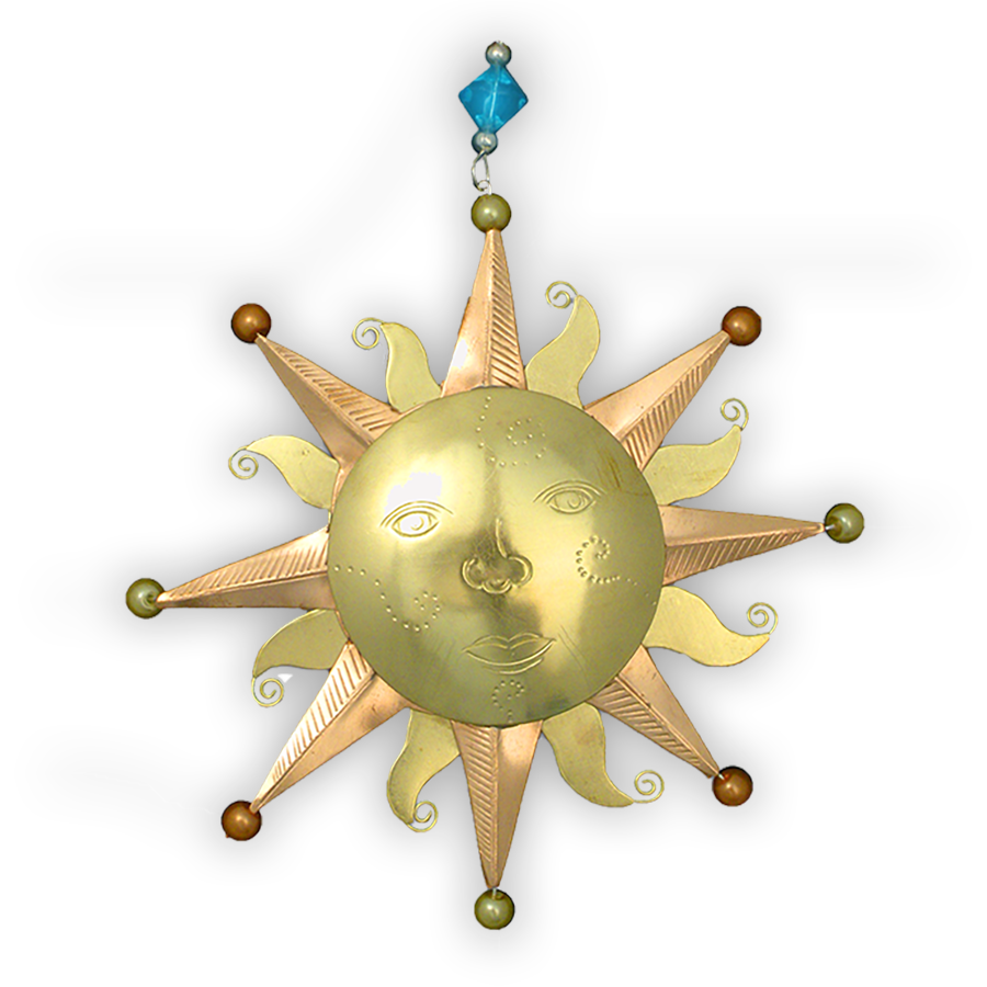 Old Fashioned Sun - Unique Gift Ornament – Art & SoulWorks