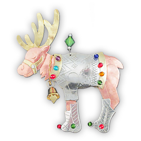 Old Fashioned Reindeer - Handmade Ornament